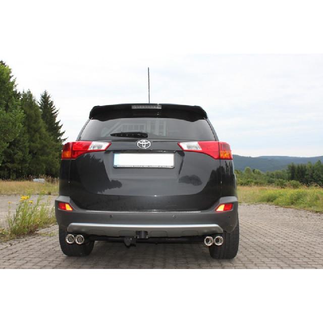 Toyota RAV 4 IV Endrohrsystem rechts/links passend auf FOX-Mittelschalldämpfer - 2x80