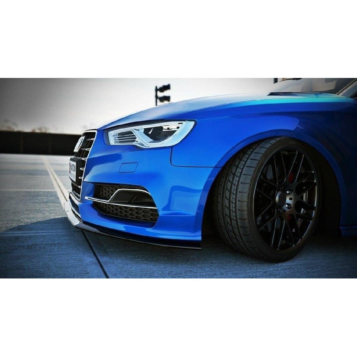 Cup Spoilerlippe Front Ansatz für Audi S3 / A3 S-Line 8V Limousine / Cabrio schwarz matt