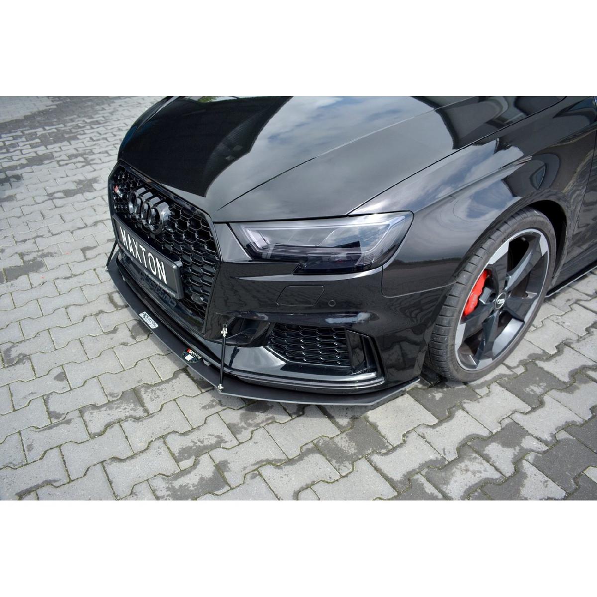 Racing Cup Spoilerlippe Front Ansatz für V.1 Audi RS3 8V FL Sportback