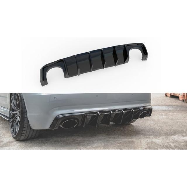 Heck Ansatz Diffusor für Audi RS3 8V Sportback schwarz matt