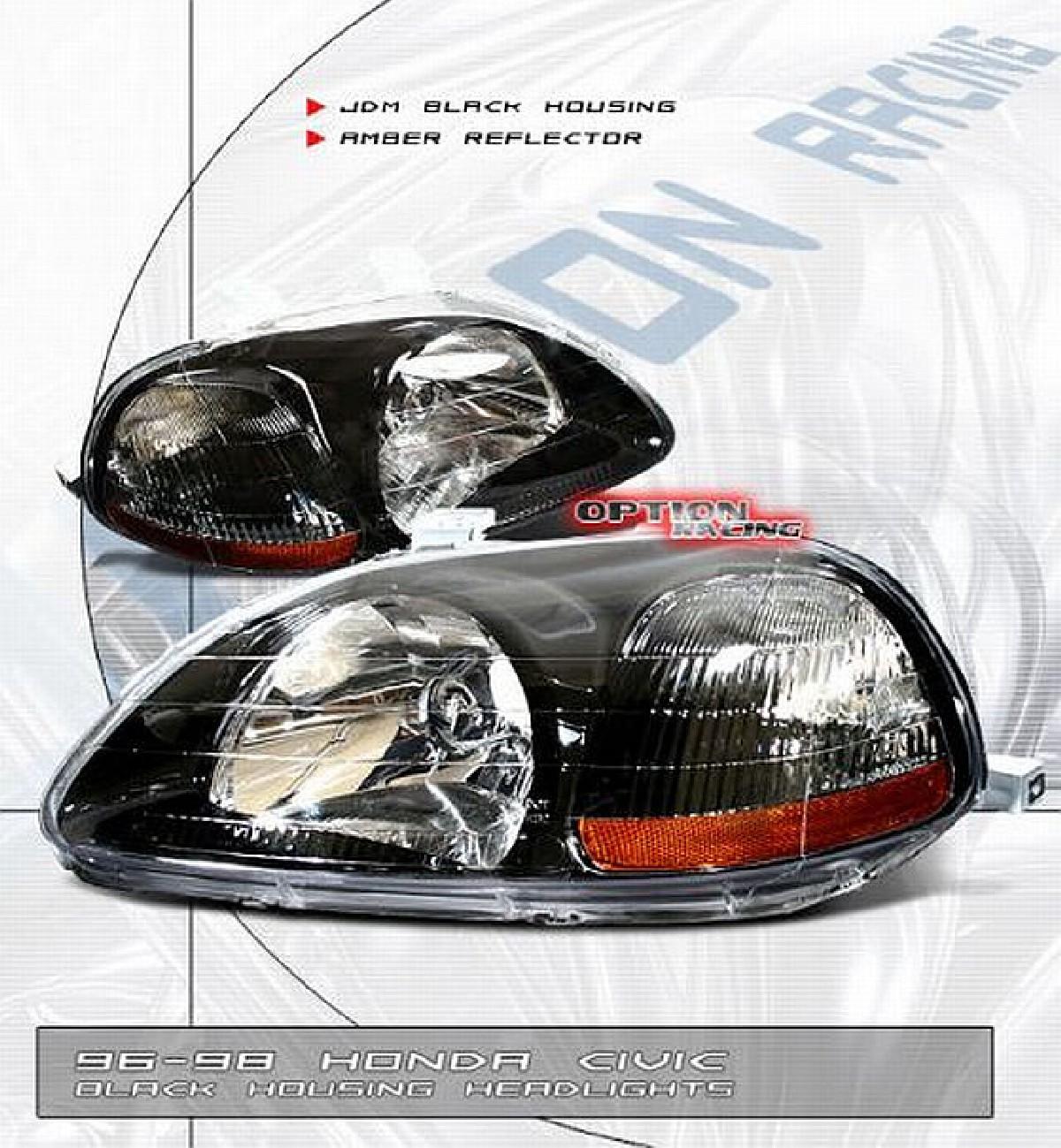 JDM G6 Scheinwerfer Honda Civic 96-98 Black/Amber