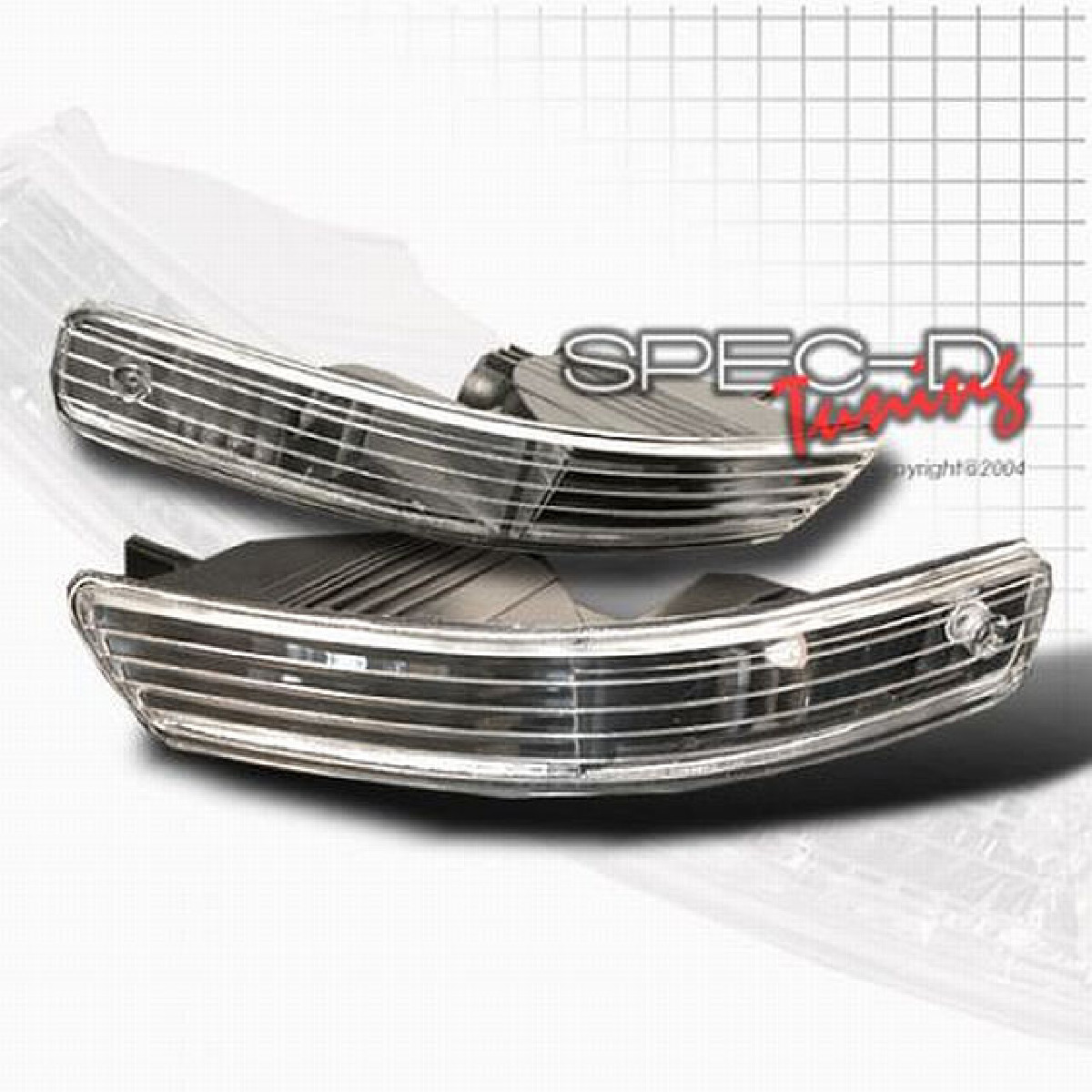 Bumper Lights Honda Integra DC2 98-01 Schwarz