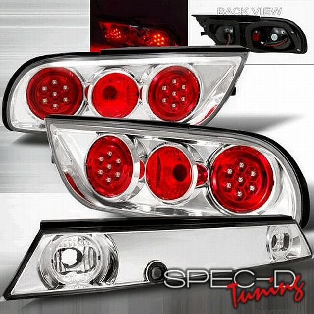 LED Rückleuchten Nissan S13 89-94 Chrom/Rot