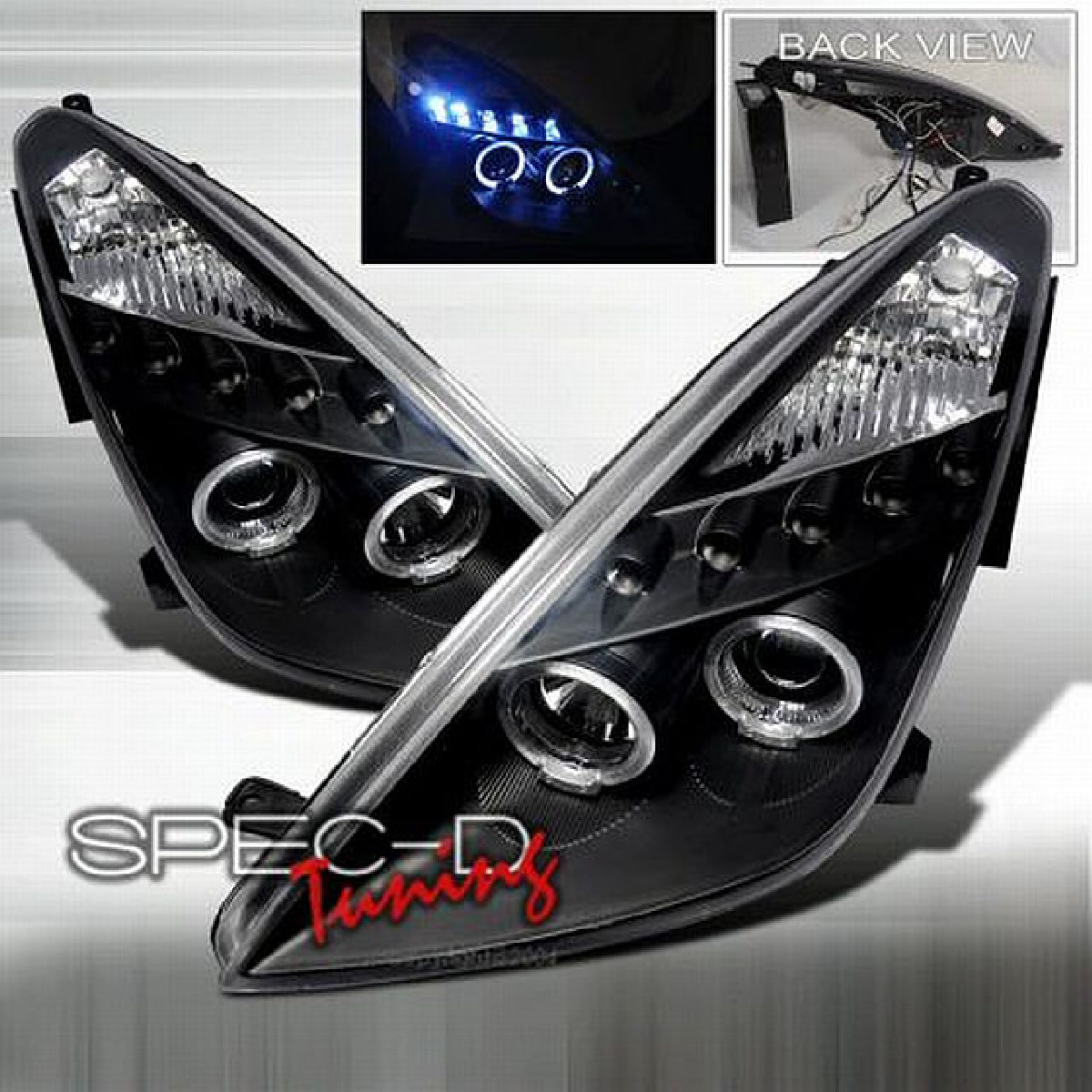 R8 Style Tagfahrlicht Scheinwerfer Toyota Celica T23 99-05 Schwarz