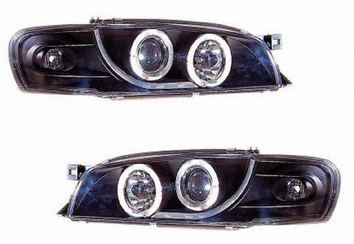 Angel Eyes Scheinwerfer Subaru Impreza GC8 97-01 Schwarz