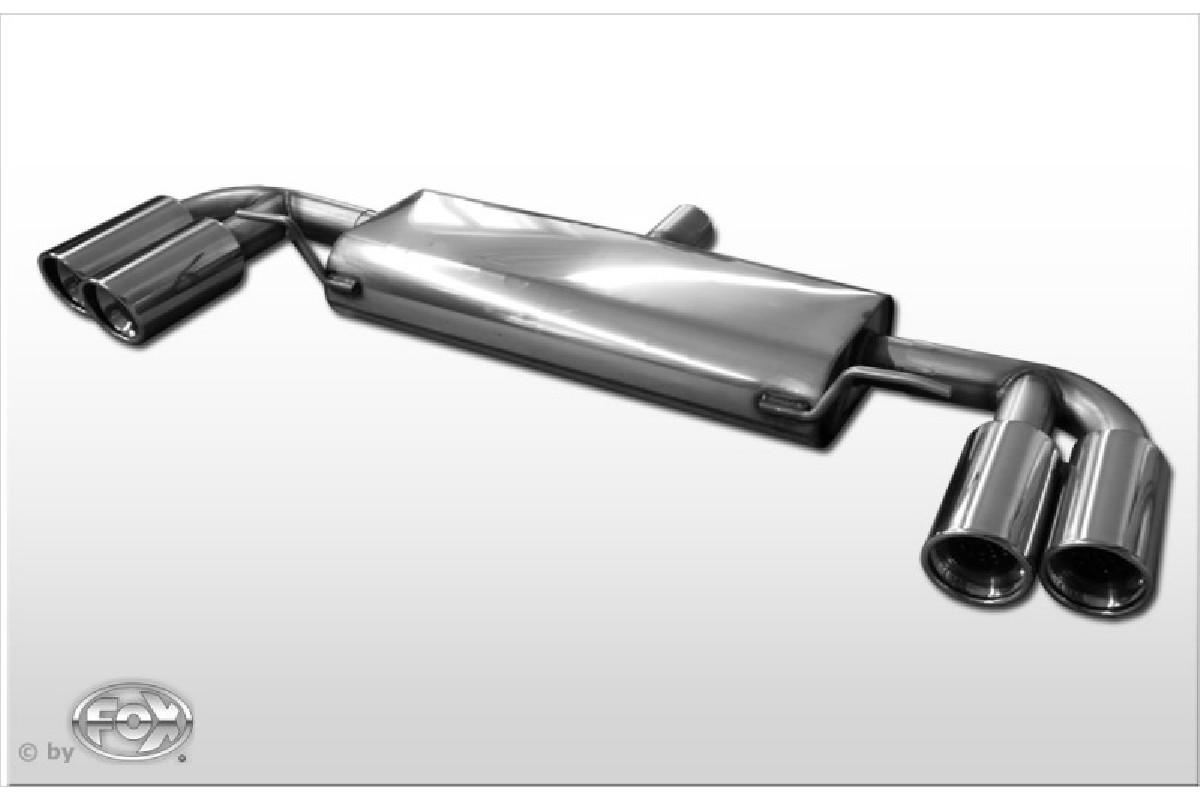 Audi TT 8J - 3,2 V6 Endschalldämpfer rechts/links - 2x100  seitlich versetzt