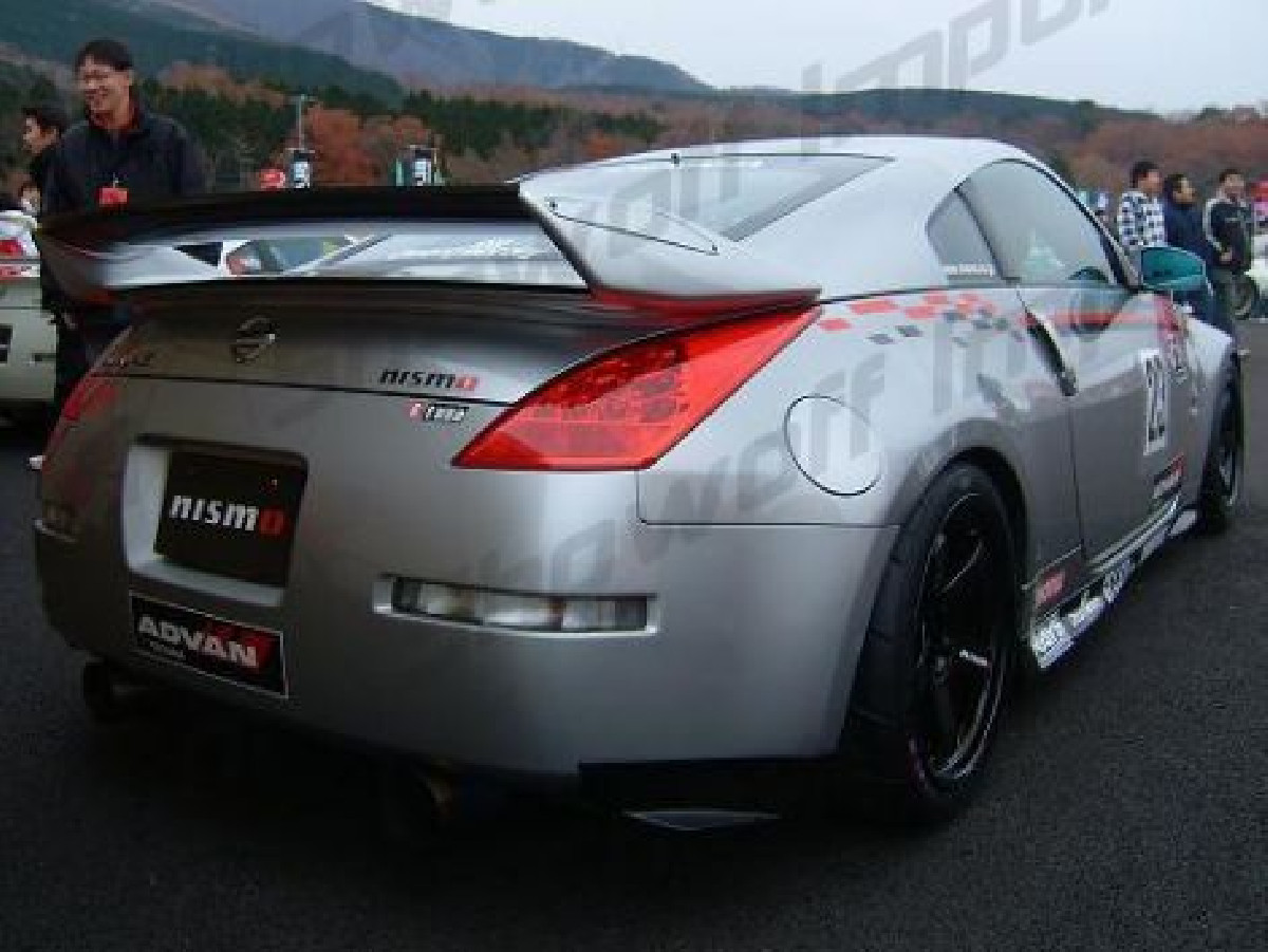 Nissan 350Z Nismo V2 Style Rear Spoiler/Wing + Carbon Center