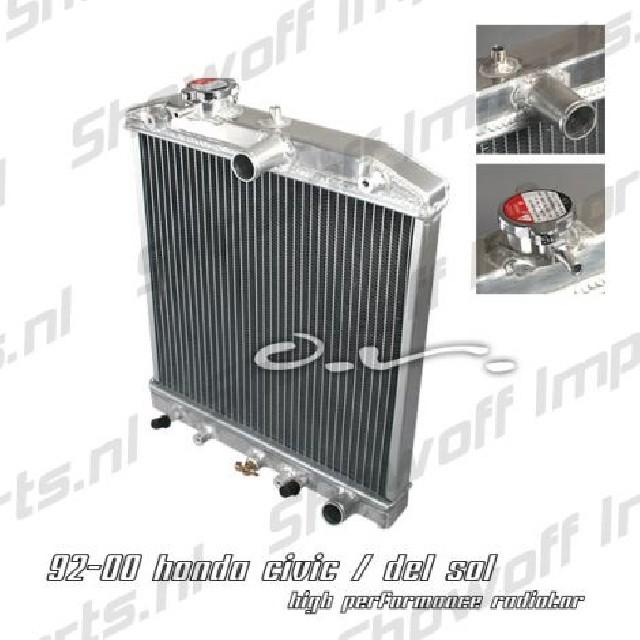 Honda Civic/Delsol 92-00 DOHC Aluminium SIX Radiator