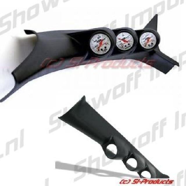 Honda Civic 01+ 2D A-Pillar Triple Gauge Pod SIX