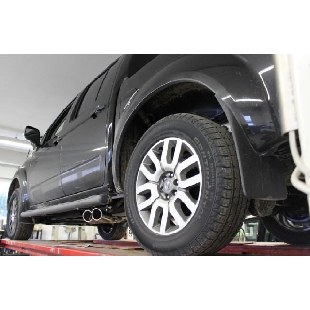 Nissan Navara D40 - 2,5l dCi … Nissan Navara D40 - 3,0l dCi Endschalldämpfer Sidepipe, Ausgang rechts und links am Fahrzeug - 2x90  rechts/links