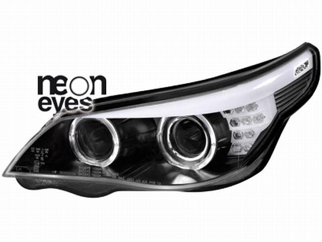 DECTANE CCFL Scheinwerfer BMW E60 04-07 LED Blinker Black, Standlichtringe