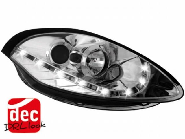 Tagfahrlicht-Optik Scheinwerfer Fiat Bravo 07-10 chrom