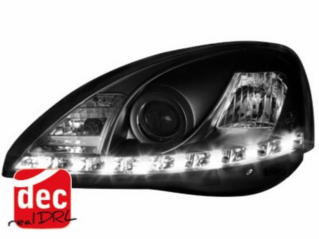 Tagfahrlicht Scheinwerfer Opel Corsa C 01-06 schwarz