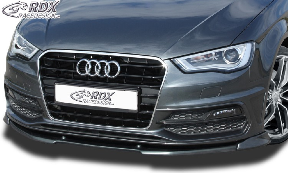Frontspoiler für AUDI A3 8V, 8VA Sportback, 8VS Limousine S-Line , S3 ,S-Line- bzw. S3 Frontstoßstange. -2016, Frontlippe Front Ansatz Vorne Spoilerlippe