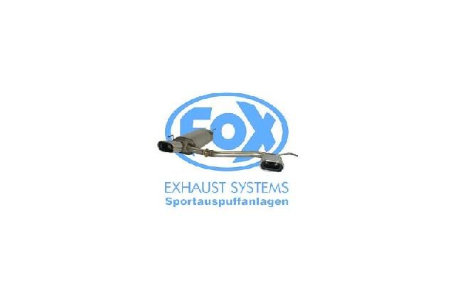 FOX VW Golf III/ Golf IV Cabrio  Endschalldämpfer Ausgang rechts/links - 135x80 Typ 53 rechts/links