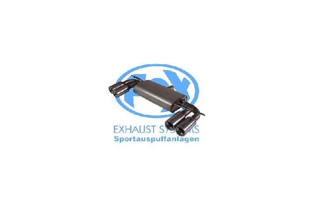 FOX VW Golf V  Endschalldämpfer Ausgang rechts/links  - 2x80 Typ 13 rechts/links