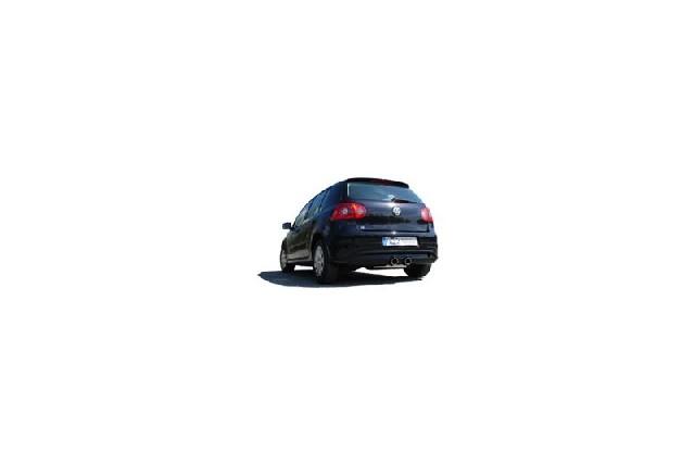FOX VW Golf V TSI  Endschalldämpfer Ausgang mittig R32-Design - 2x90 Typ 16 mittig