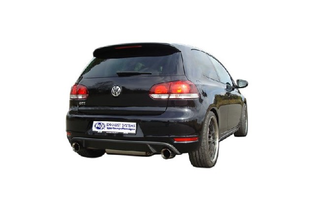 FOX VW Golf VI - GTI-Optik  Endschalldämpfer rechts/links - 1x90 Typ 25 rechts/links  GTI-Optik - Passend an die originale Golf 6 GTI-Stoßstange