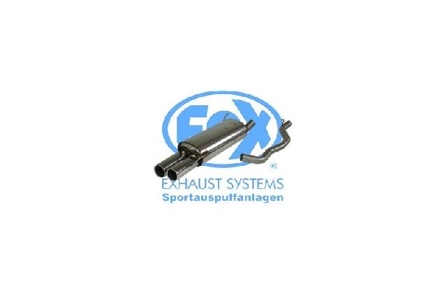 FOX VW Bus T4 Syncro  Endschalldämpfer inkl. Verbindungsrohr mit Halter - 2x80 Typ 13