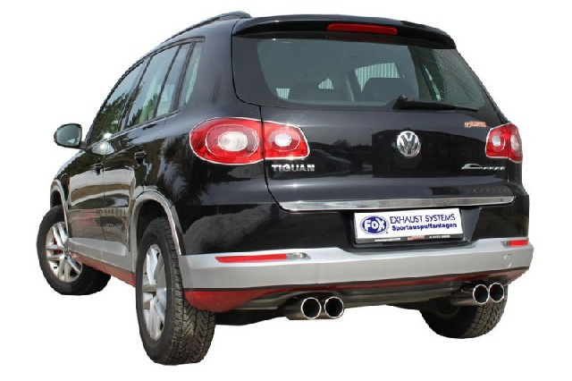 FOX VW Tiguan  Endschalldämpfer Ausgang rechts/links - 2x90 Typ 12 rechts/links