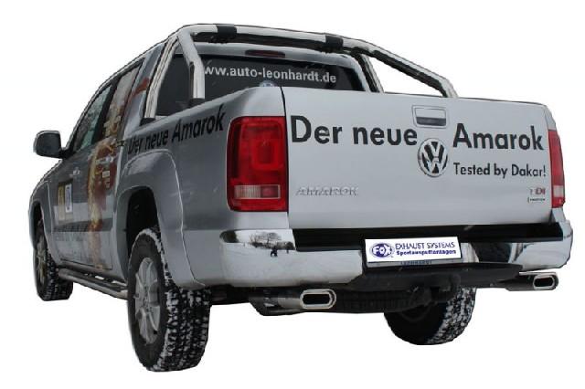 FOX VW Amarok 4x4  Endschalldämpfer Ausgang rechts/links - 160x80 Typ 53 rechts/links